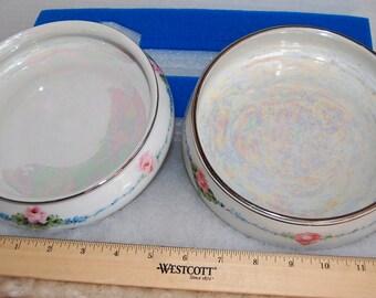 Pair of Royal Rochester Studios  Luster Glaze Oven Baking Bowls