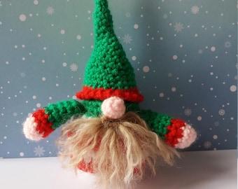 Elf, gnome Christmas handmade crochet amigurumi, Christmas decoration
