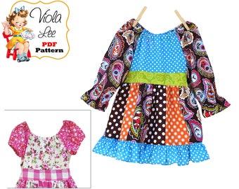 Toddler Peasant Dress Pattern pdf. Girls Peasant Dress Pattern. Top & Dress Girls Sewing Pattern. Toddler Sewing Pattern. Download Harper