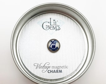 Vintage Magnetic Wine Charm: Hand Painted Single Charm