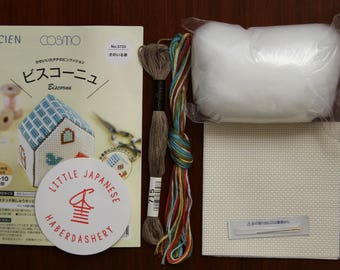 Cosmo Embroidery Kit 3733 - Little Blue House