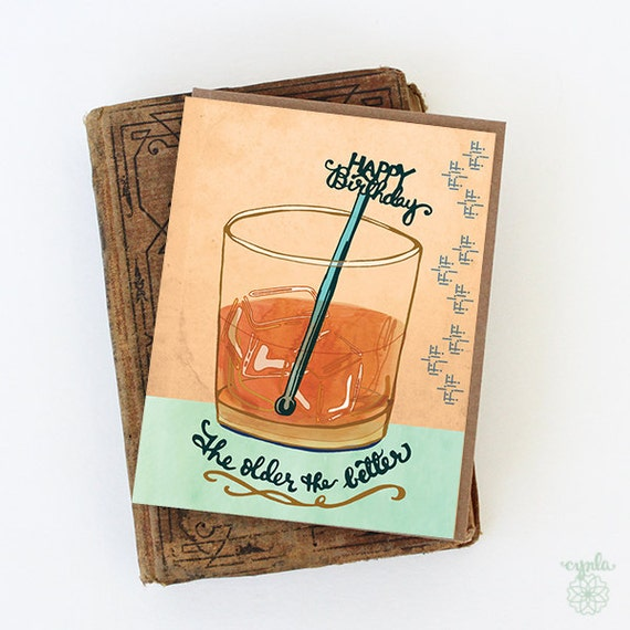 Whiskey Birthday Card whisky birthday card happy birthday