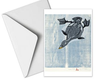 Diving Scoter Greeting Card