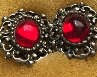 Vintage jelly belly clip on earrings