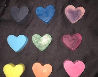 10 Decorative Heart Soaps