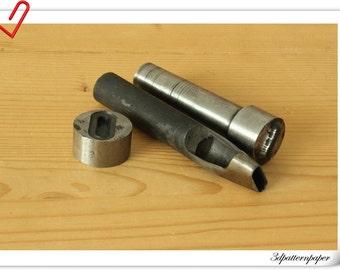 1 inch Oval  Grommet tool, oval eye tool, grommer eyelet setter,  oval eyelet setting tools S13