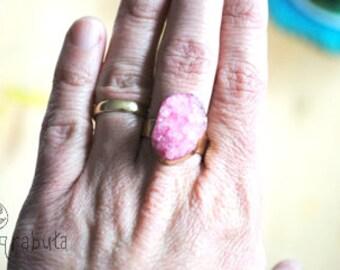 Adjustable Pink stone Ring