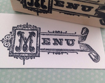 Menu Sign  Rubber Stamp 5943