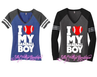 Baseball mom shirt, Baseball shirt, I love my baseball boy shirt, Baseball mom, Baseball sports mom, Baseball mom top, Baseball