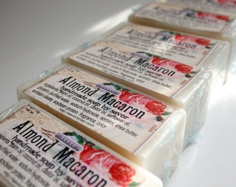 Bar Soap Almond Macaron Shea Butter Soap Vegan