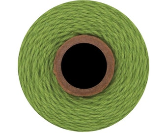 Solid Green Apple Colored Divine Twine BakersTwine by Whisker Graphics - 240 yard spool