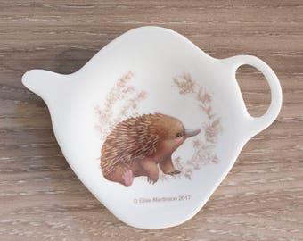 Echidna, cute baby animal, Australian animal, Tea bag Holder, Spoon Rest, Australian seller, gift for grandma