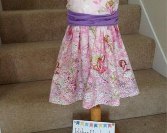 Girls Pink Flower Fairy Dress, Pink Fairy Party Dress, Flower Fairy Party Dress, Pretty Pink Fairy Dress age 2-3 yrs