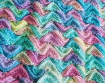 Crochet Pattern, Sea Song Blanket, Baby, Afghan