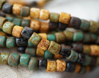 NEW Stock..Rustic Picasso Bugle Mix, Seed Beads, Seed Beads, Beads