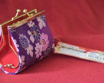 tiful Japanese Traditional Kimono Material Coin/Change Purse - New!