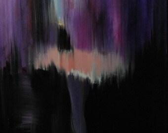 Dancer Print, Purple Canvas Art, Abstract Giclee print, Large Wall Art Print on Canvas, Contemporary art  Ballerina Print