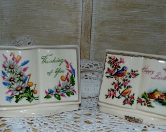 SALE - Set Of Two Vintage  Royal Windsor Verse Planters
