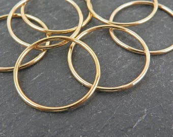Gold Filled Stacking Ring 18.5mm ~ Size L/6/53
