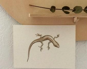 Little lizard painting