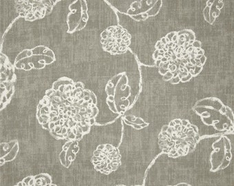Adele Slate cotton fabric by the yard floral Magnolia Home Fashions