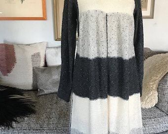 Cozy vintage knitted sweater dress