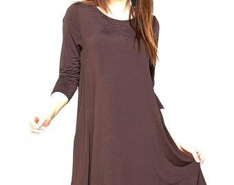 Plus Size Swing Dress with Pockets XL-XXL-XXXL