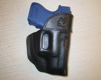 GLOCK 27 formed leather,owb belt holster