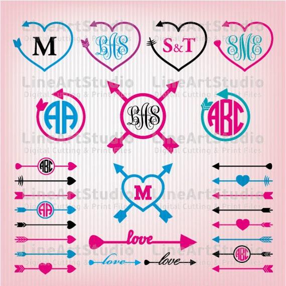 Monogram Svg Arrows Files Svg Files Circle Arrows Svg