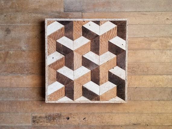 Reclaimed Wood Wall Art   Wood Wall Art   Wood Decor   Geometric Wood Art   Wood Wall Decor   Modern Wood Art   Wood Wall Decor   Wood Art  