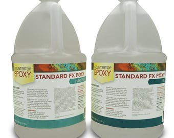 FX Poxy - Clear Epoxy Resin - 40 sq ft - Coat over Art, Countertops, and more!