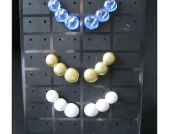 3 rounds earrings