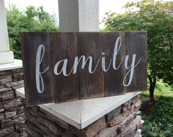 FAMILY  rustic wood sign