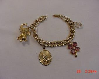 Vintage Religious Theme Charm Bracelet  18 - 225