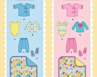 Baby Boy Pattern, Baby Girls Pattern, Infant Pattern, Toddler Pattern, Sz 7 to 24 lbs, Simplicity Sewing Pattern 1330