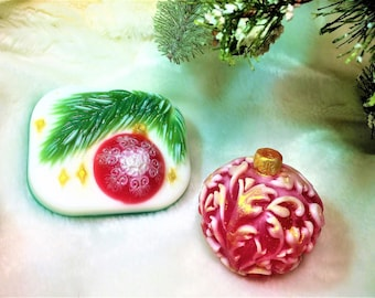 Christmas Ornament Soap-Christmas Tree Ball Soap-Stocking Stuffer-Gifts for Christmas