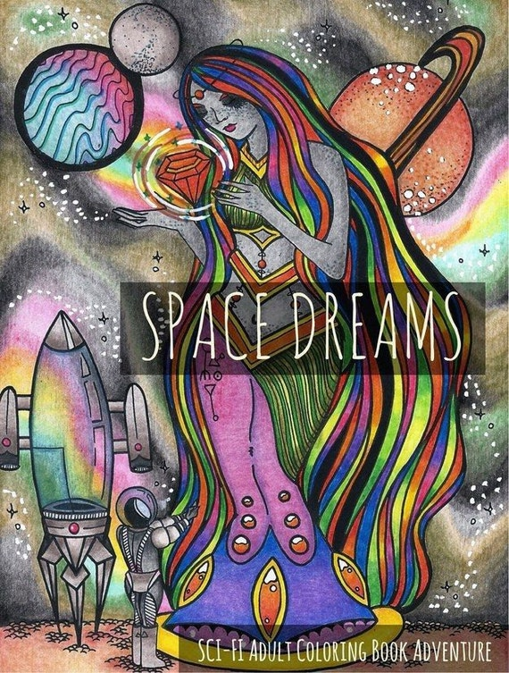 Space Dreams: Sci-Fi Adult Coloring Book Space Coloring Book