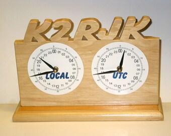 Dual 24 hour Call Sign Desk Clock