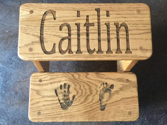 Personalized Step Stool for Child. Great birthday gift for that little girl or boy who can't quite reach!