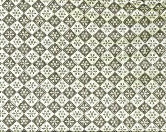 Tissu coton motifs scandinaves -  gris foncé / blanc - pour loisirs créatifs