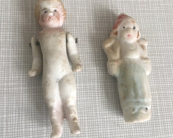 Two old Bisque Dolls