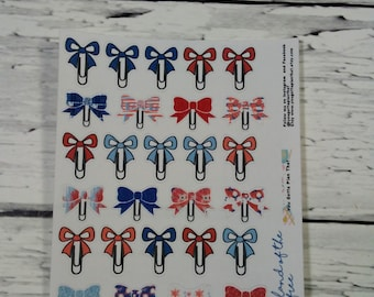 Land of the FreeBow Clip Planner Stickers