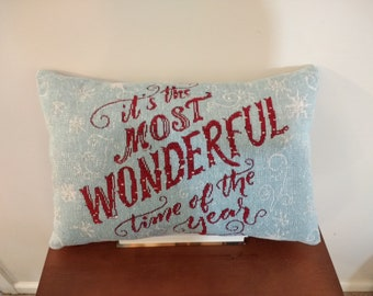 It's the Most Wonderful Time Christmas Pillow