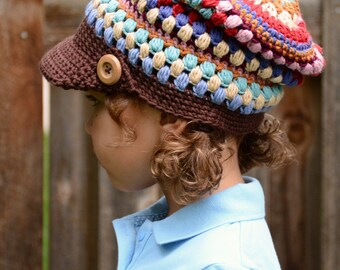 CROCHET PATTERN - World Traveler Slouchy - crochet slouchy hat, crochet hat pattern (Toddler, Child, Adult sizes) - Instant PDF Download