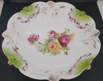 Antique PS Germany Bowl with Roses