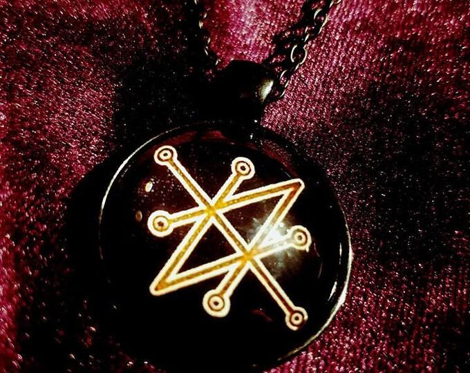 Sigil of Azazel Necklace - occult left hand path satanic goth