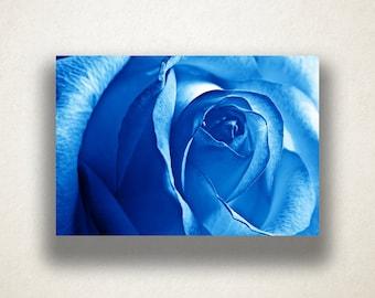 Blue Rose Canvas Art, Rose Close Up Wall Art, Rose Canvas Print, Close Up Wall Art, Photograph, Canvas Print, Home Art, Wall Art Canvas