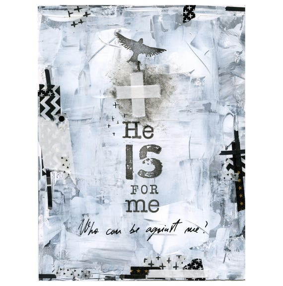 Reserved for Michelle -He is for me - metallic print