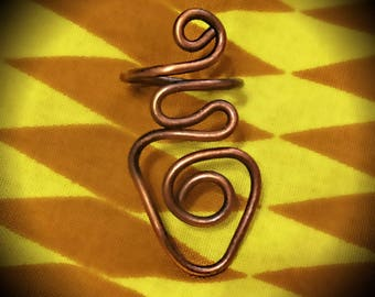 Size 8 Copper Arrow Ring, Afrocentric Jewelry, Afropunk Jewelry, Urban Jewelry, Earthy, Bohemian, Rustic