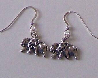 Sterling Silver ELEPHANTS 2 by 2 Earrings - Wildlife, Noahs Ark